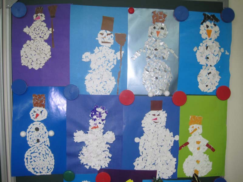 Новогодние поделки в начальной школе из бумаги